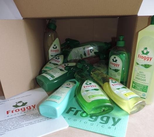 Ecologische producten van Froggy - testpakket met veel eco huishoudproducten