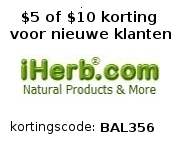 iHerb - supplementen, vitamines, superfoods, bakproducten, enz. - Korting met code: BAL356